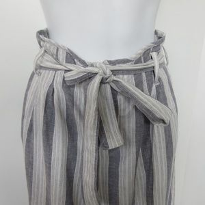 Rails Jess Pants M Wide Leg Paper Bag Striped Bold